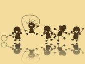 дети играют — Cтоковый вектор