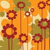Warm flowers — Stock Vector