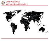 Mapa světa — Stock vektor