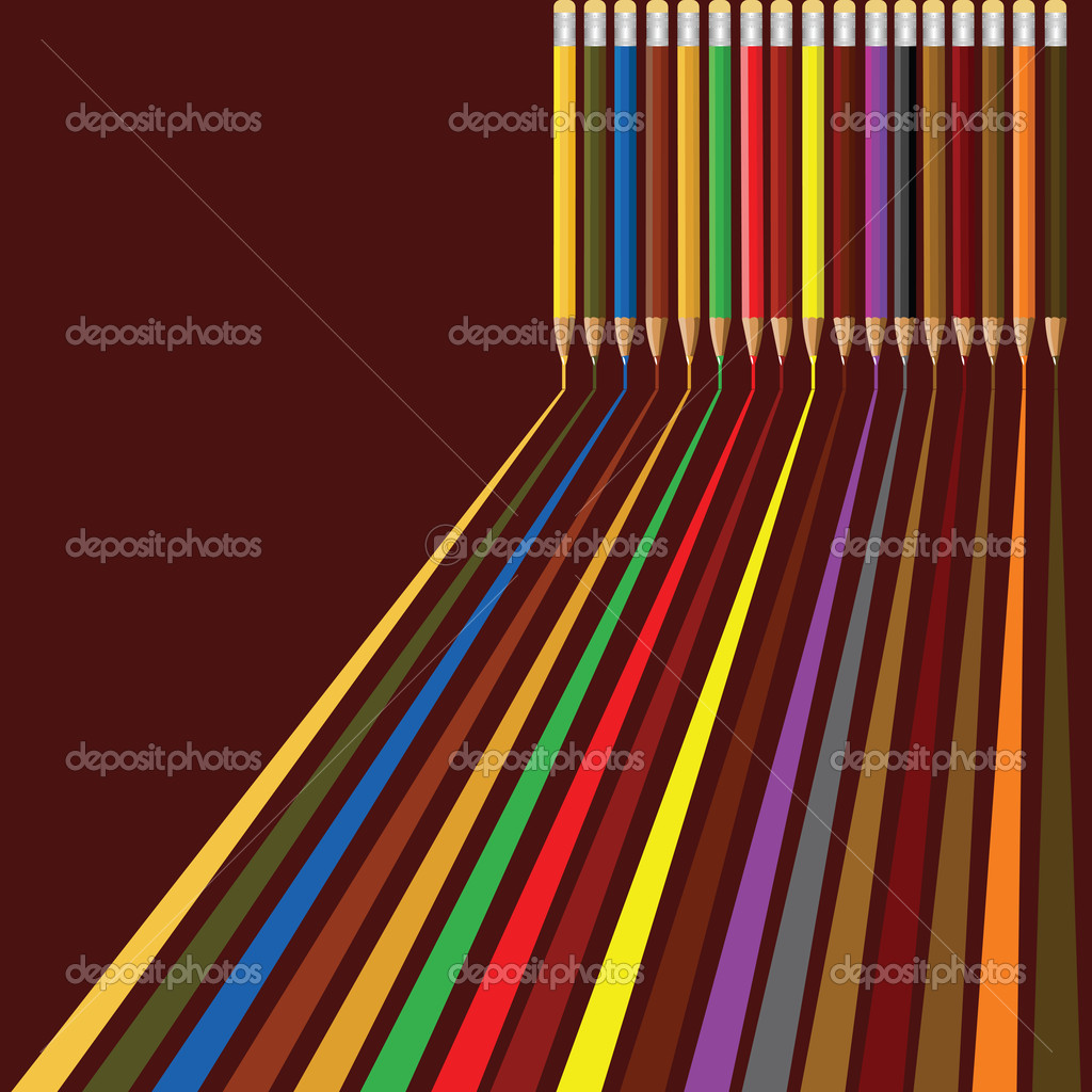 Seamless background with colored pencils — Stock Vector #2009710