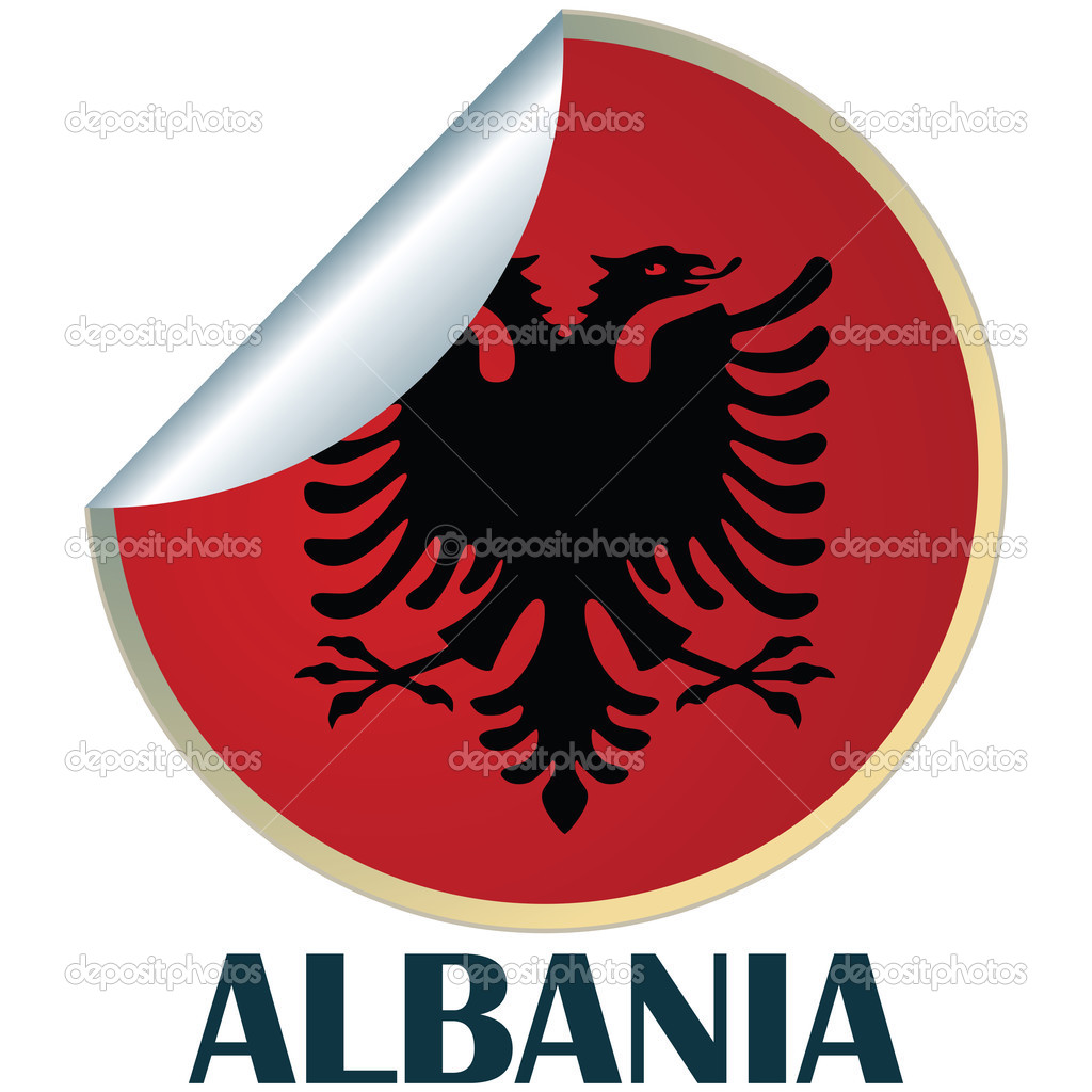 Sticker with flag of Albania — Stock Vector #2153383