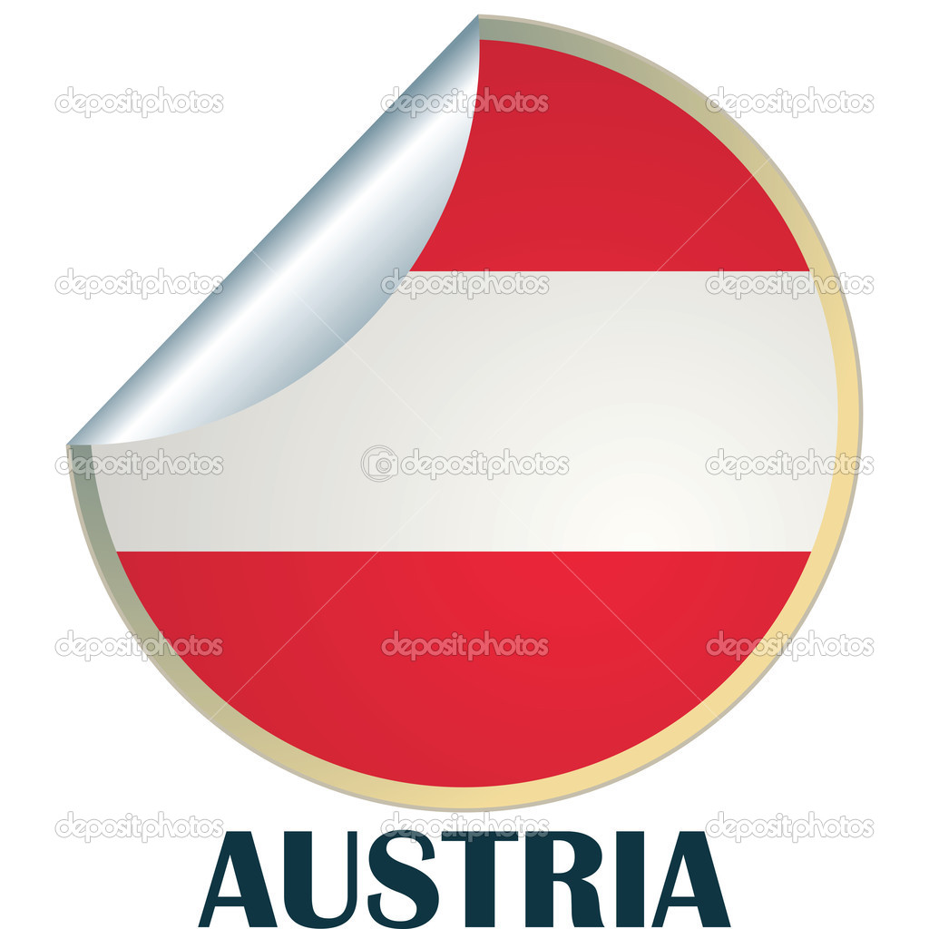 Sticker with flag of Austria — Stock Vector #2153410