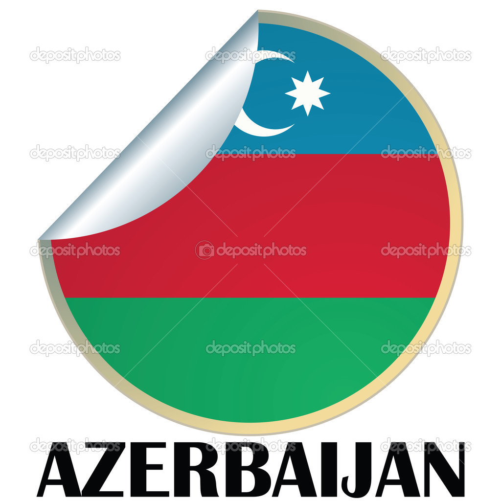 Sticker with flag of Azerbaijan — Stock Vector #2153413