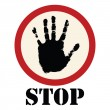 Vector de stock : Stop sign