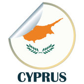 Cyprus Sticker — Stock Vector