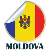 Moldova Sticker — Stock Vector
