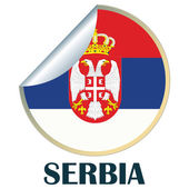 Serbia Sticker — Stock Vector