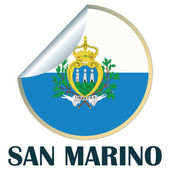 San Marino Sticker — Stock Vector