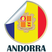 Andorra Sticker — Stock Vector