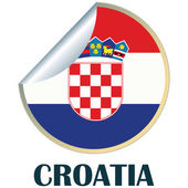Croatia Sticker — Stock Vector