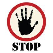 Stopbord — Stockvector