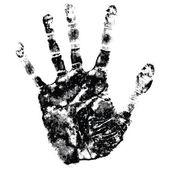 Hand afdrukken — Stockvector