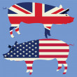 Stock Photo: Brittish and American