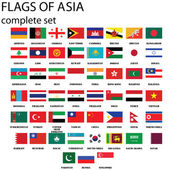 Asia flags — Stock Photo