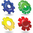 Gear icons - Stock Photo