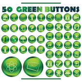 Green buttons — Stock Photo