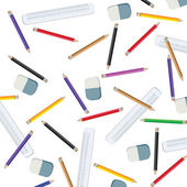 Pencils and measuring lines — Stock Photo
