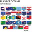 Flags of Oceania - Stock Photo