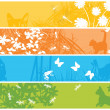 Web banners with spring theme — Stock Photo