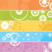 Web banners, gears — Stock Photo