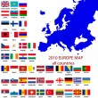 Editable map of Europe — Stock Photo