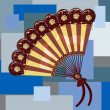 Stock Photo: Hand fan