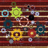 Grunge cogwheels background- abstract art — Stock Photo