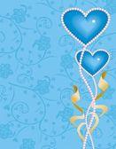 Heart blue — Stock Vector