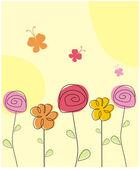 Baby flowers — Stock Vector