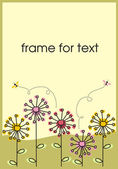Dandelions frame — Stock Vector
