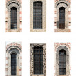 Rectangular church windows — Stock Photo