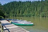 Agreement lake with boats — Stock Photo