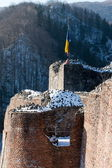 Dracula fortress tower ruins — Stock Photo