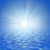 Abstract Sea and the Sun — Stock Photo