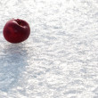 Red Apple on Ice background — Stock Photo