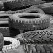 Wheels  tyre covers  old — Stock Photo