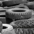 Stock Photo: Wheels tyre covers old