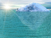 Iceberg ocean — Stock Photo