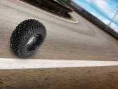 Whee road rörelse — Stockfoto