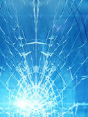 Cracks glass car — Stock Photo