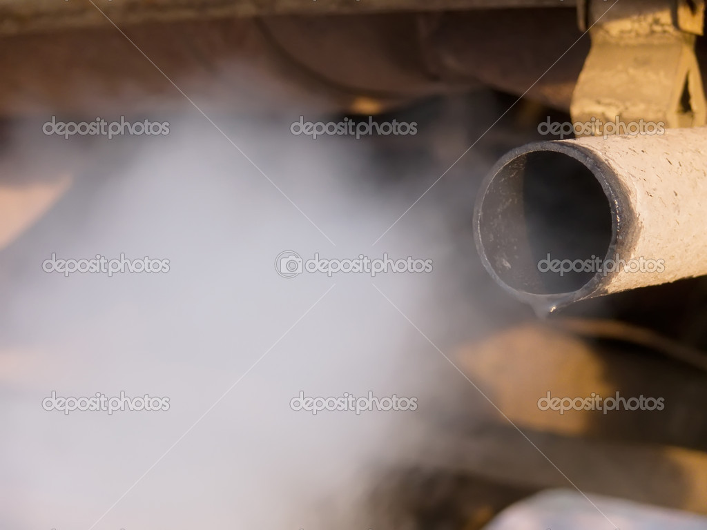 Smoke  exhaust   pipe   car  Stock Photo #1254731