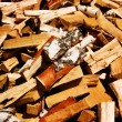 Fire wood chipped birch — Stock Photo #1263415