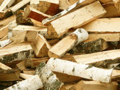 Fire wood chipped — Stock Photo