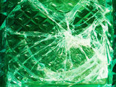 Cracks in glass — Stock Photo