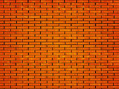 Brick in a laying of a wall of the house — Stock Photo