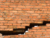Crack in a wall — Stock Photo
