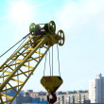 Hook elevating crane — Stock Photo #1333961