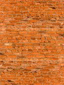 Tuğla bir duvar döşeme — Stok fotoğraf