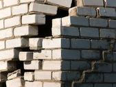 Destruction wall house — Stock Photo