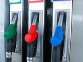 Cranes fuel autorefuelling — Stock Photo